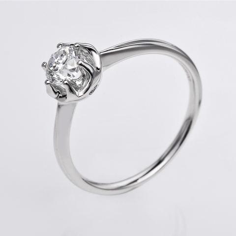 Tiaria Dhtxdfj008 Perhiasan Cincin Emas Putih Dan Berlian White Gold 18K