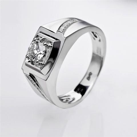 Tiaria Dhtxhjz021 Perhiasan Cincin Emas Putih Dan Berlian White Gold 18K