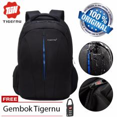 Tigernu Tas Ransel Laptop Anti Theft Waterproof Backpack For Notebook Up To 15.6 Inch - Black Blue