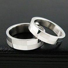 Titanium - [2 Cincin + Box + Ukir] Cincin Couple Titanium CC023
