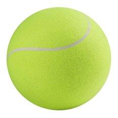 Toprank 24 Cm Big Giant Tanda Tangan Bola Tenis Inflatable PET TennisBall Pelempar Chucker Launcher Bermain Mainan (Hijau) -Intl