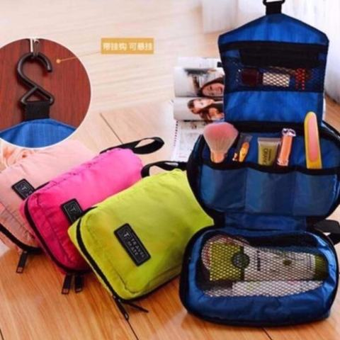 Travel Bag Organizer Travel Mate Tas Kosmetik - Pink Salem