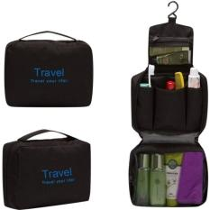 Travel Mate Jumbo Toiletries Bag / Travel Organizer - Black