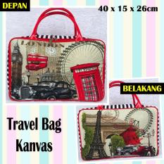 TRAVELBAGMURAH - Travel Bag Kanvas LONDON TELEPON