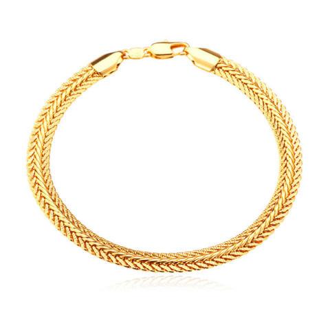 Home; U7 66.04 Cm Satu Set Kalung Gelang 18 KB Nyata Emas Berlapis Rantai ( emas)