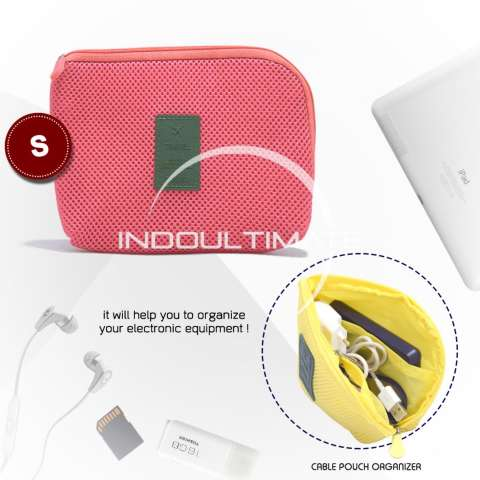 Ultimate Dompet Tas Charger Kabel Power Bank Multifungsi / Cable Pouch Travel Multifungsi Small OR 82