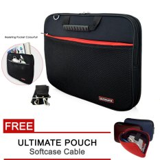 Ultimate Laptop Bag / Tas Jinjing / Softcase Pria/wanita Double Sport FREE CABLE POUCH - 14 Inch
