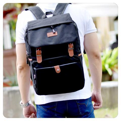 Home; Ultimate Tas Pria Wanita 839 - Black / Backpack Anak Cewek Sekolah Remaja Korea