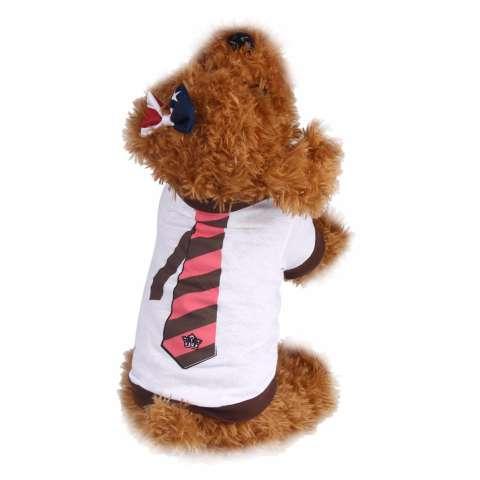 Unipet Baju Anjing Kucing Motif Dasi Dog Cat Shirt Vest Size M
