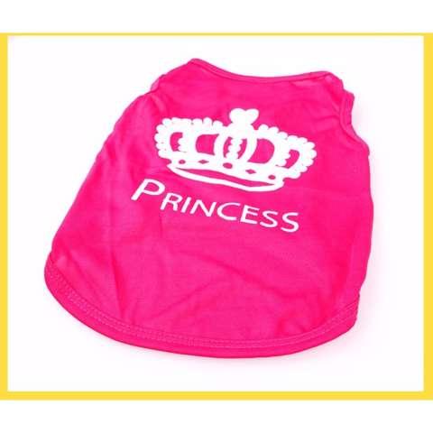 Unipet Baju Kaos Kostume Tshirt Anjing dan Kucing Princess Dog Cat Vest Pink