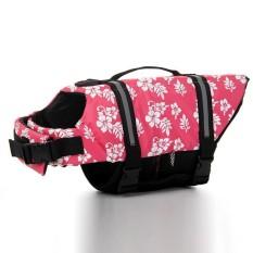 Unisex PET Rompi Keselamatan Dog Life Jaket Puppy Preserver Swimwear Warna: Pink Ukuran: XL-Intl