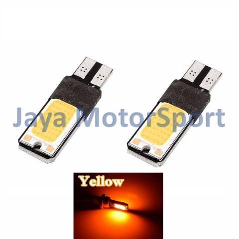 ... JMS 1 pair 2 pcs Lampu LED Plasma Mobil Motor Senja T10 Wedge Side Canbus COB