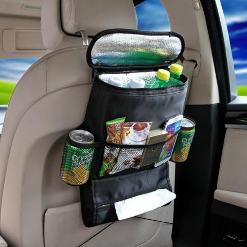 Universal Insulted Car Back Seat Organiser Travel Multi Pocket Holder Pouch Storage Bag – Hitam