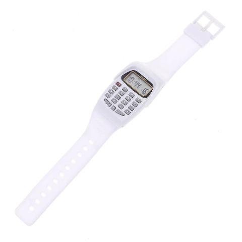 Vanker-Gaya Mewah 8-Digit Menghitung Menonton Kalkulator Digital dengan Lampu LED Watch Fungsi Baru (Putih) 3