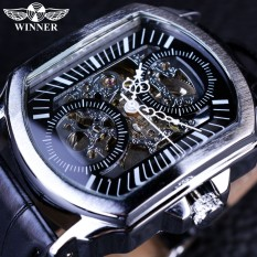 Winner GMT911 2016 Retro Classic Designer Silver Stainless Steel Case Men Watches Top Brand Luxury Mechanical Automatic Watch Clock Men - intl
