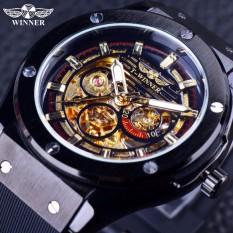 Winner GMT952-2 2016 Luxury Sport Design Matte Scrub Golden Dial Inside Men Watches Top Brand Luxury Automatic Male Wrist Watch Clock Men - intl