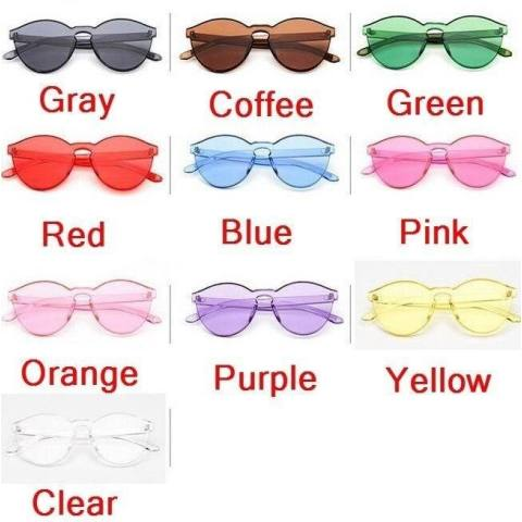Harga Jual Wonderful Power Big Discounts 10 Colors Hot Integrated Uv Candy  Colored Glasses Women Fashion 0fe2132add