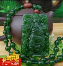 Xinjiang dan Lahan Pertanian Jasper Hijau Giok Lulus Awan Panjang Force God dari Wealth Manusia Lulus Mr. Giok Kartu kalung Berkabung untuk Fall untuk-Internasional
