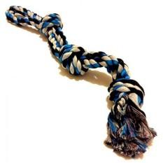 XL Dog Rope Toy - Sturdy Cotton - Thick Knots - For Large Breeds and Big Puppies - Best for Tug-of-War or Fetch - Stress-Free Puppy Training - Indoor or Outdoor Play - Dental Health - Canine Exercise