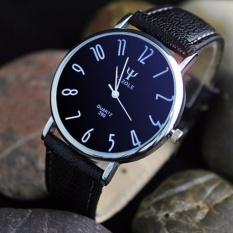 Yazole 299 Jam Tangan Pria Original Business Quartz Watches - Black/BlackDial
