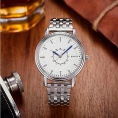 YAZOLE 305 Fashion Men Quartz Watch Casual Analog Wrist Watch White