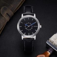 YAZOLE 305 Fashion Simple Male Quartz Watch Black