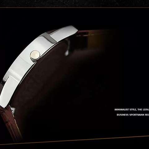 YAZOLE Jam Tangan Pria Vintage Leather Band Fashion Stainless Steel Sport Bussiness Quartz Wrist 311 -