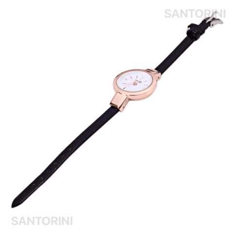 YUHAO Jam Tangan Kulit Fashion Analog Wanita Diamon Style Women Leather  Strap Watch - BLACK f0662c01ee