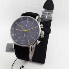 Zeca Genoa Edition Watch Original ZC266 - Jam Tangan Casual Pria - Leather Strap - Free Gift 1 Pc Tali Jam [Black]