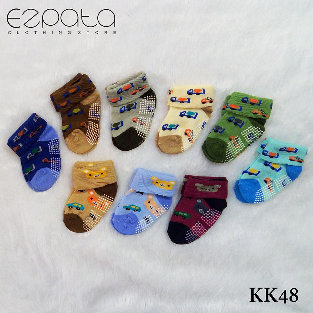 NINA Kaos Kaki Bayi 0-6 bulan- 1set isi 3 Warna 5c23b7ff4b