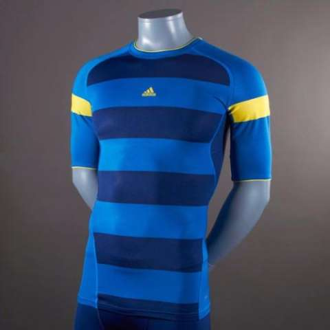 finest selection 5a7c5 24ee0 ... where can i buy adidas techfit preparation nitrocharge running baselayer  biru futsal jersey sepeda original g70396