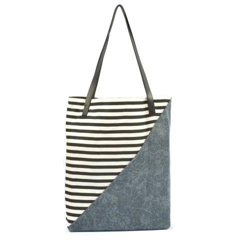 Augy's Tote Bag - Half Jeans - Biru