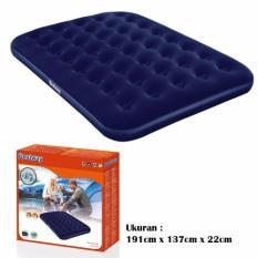Bestway 67002 Kasur Angin Double Biru [191cm x 137cm] / Air Bed Double Blue