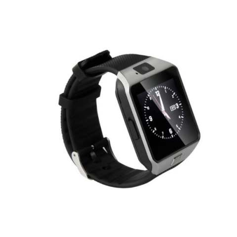 Brandy's Bluetooth DZ09 Android Call Reminder Smart Watch (Bright Silver) + FREE Baterai