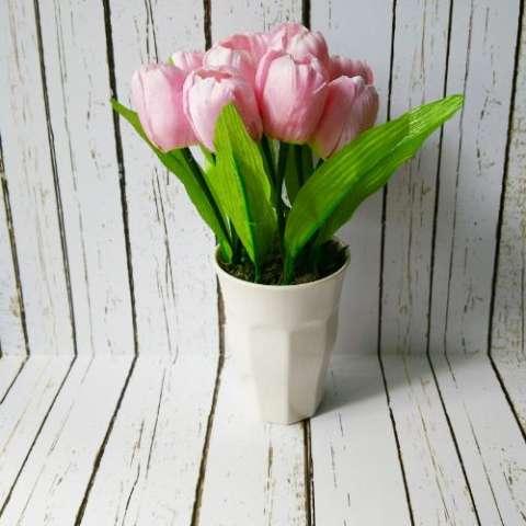 Jual Bunga Tulip Pink Tanaman Rangkaian Bucket Buket Bunga Pohon Plastik  Artificial Artifisial Sinteti Harga Rp 09f17f0045