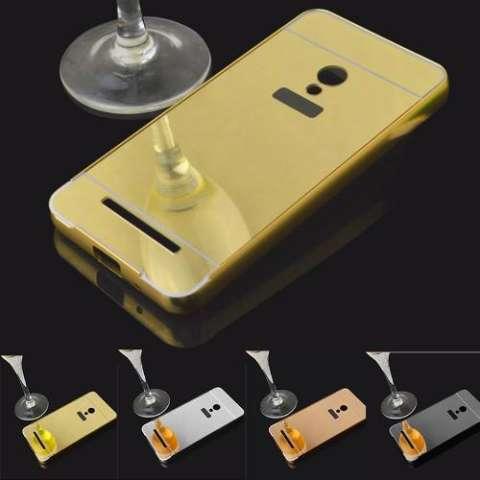 Case Asus Zenfone Selfie Bumper Metal + Back Case Sliding - GOLD