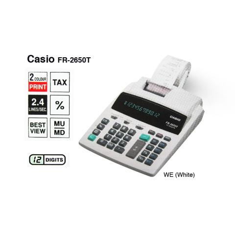 Casio Desk Printer FR-2650T-WE - Kalkulator Printer - Putih