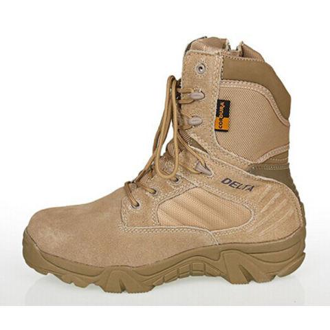 Dbest Kudastore - Sepatu Boot Hiking Delta High 8inch Quality Outdoor - Warna Gurun