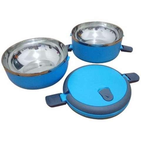 diva-Davi Lunch box rantang stainless steel susun 2 - biru