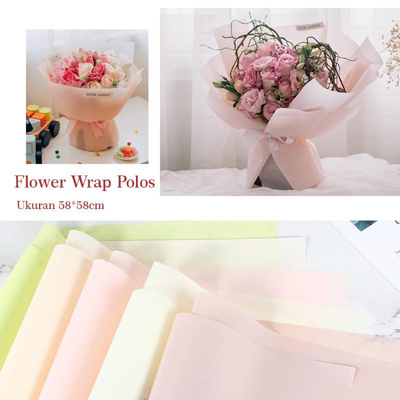 50 Buahbanyak Kue Biskuit Kemasan Tas Plastik Permen Pernikahantas Source · onemarkets Kertas Flower Wrap Polos Import ukuran 58 58cm