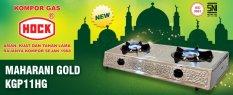 Hock Kompor Gas Maharani Gold 2 Tungku - Stainless Steel