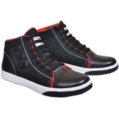 Java Seven Sepatu Sneakers Zacky Kulit Suede ARS 925 - Hitam