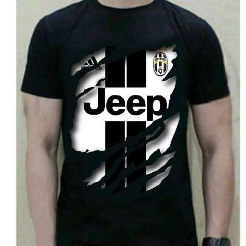 Kaos Katun Pria 3D Juventus T-Shirt warna hitam
