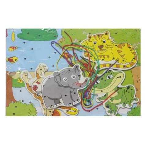Kayla Org Mainan Edukasi Papan Jahit Gajah