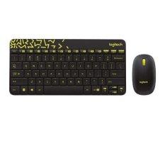 Logitech Keyboard dan mouse wireless mk240 nano hitam