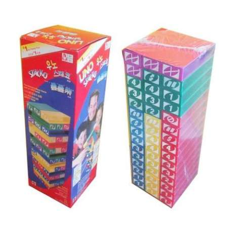 Lullaby UNO STACKO Family Game - Multi Colour