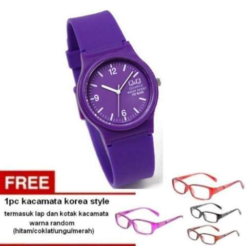 Q&Q Jam Tangan Wanita - Ungu - Strap karet - Purple Colour Watch -VP46J016Y +