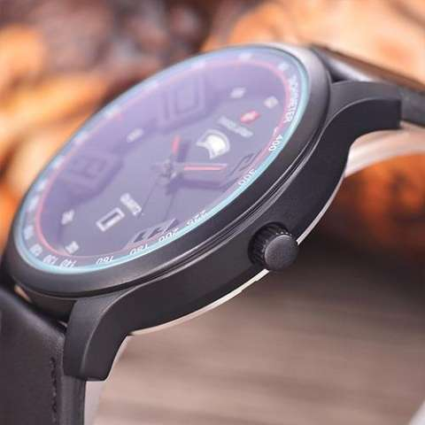 Leather Strap Em Source · Swiss Army Jam Tangan Pria Body Black Black .