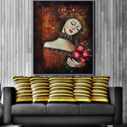 Yang Paling Terkenal Ruang Tamu Lukisan Abstrak Seni Lukisan Dinding untuk Dekorasi Rumah Ide Cetak Di Atas Kanvas Lukisan Minyak 2