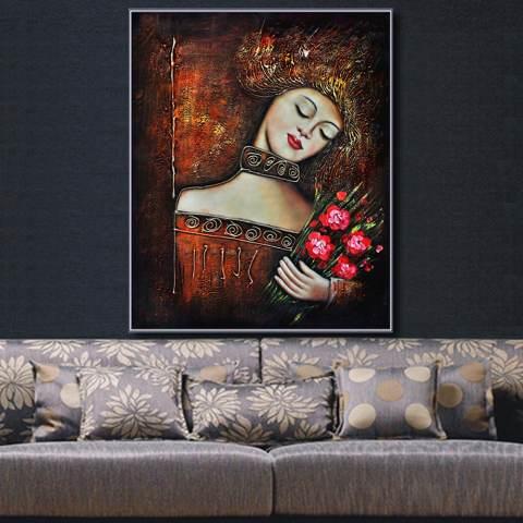 Yang Paling Terkenal Ruang Tamu Lukisan Abstrak Seni Lukisan Dinding untuk Dekorasi Rumah Ide Cetak Di Atas Kanvas Lukisan Minyak 3